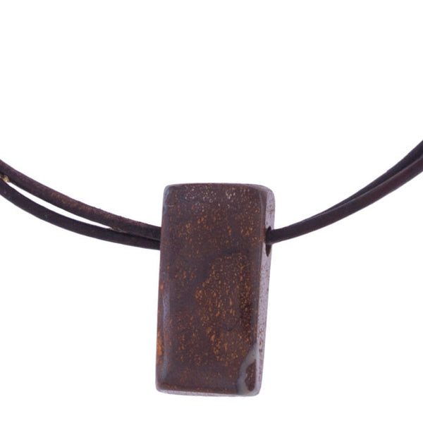 Boulder Opal Rectangle Pendant by Laura Ingalls Designs