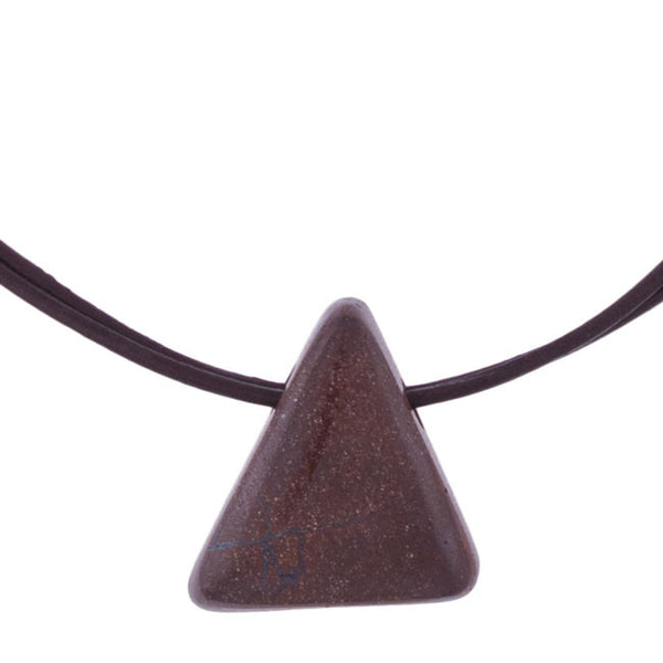 Boulder Opal Triangle Pendant by Laura Ingalls Designs