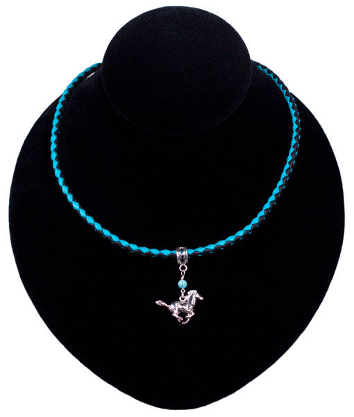 Mustang Necklace in Black by Laura Ingalls Designs