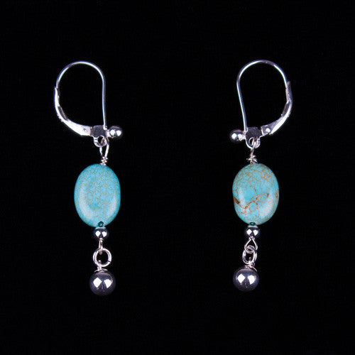 Robin's Egg Turquoise Earrings by Laura Ingalls Designs