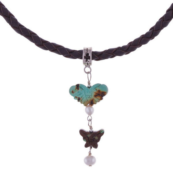Butterflies are Wild Necklace by Laura Ingalls Designs