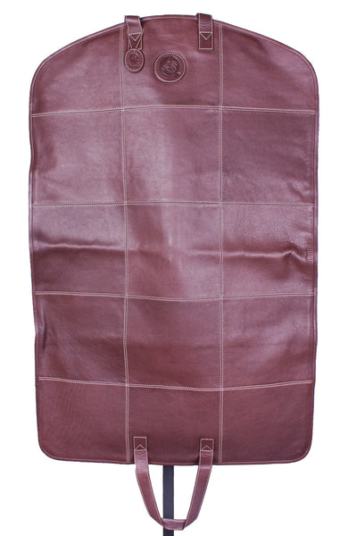 Hamptons Garment Bag in Dark Brown by Lilo Collections