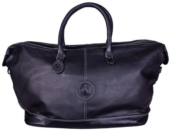 Hamptons Weekender Duffle in Black by Lilo Collections
