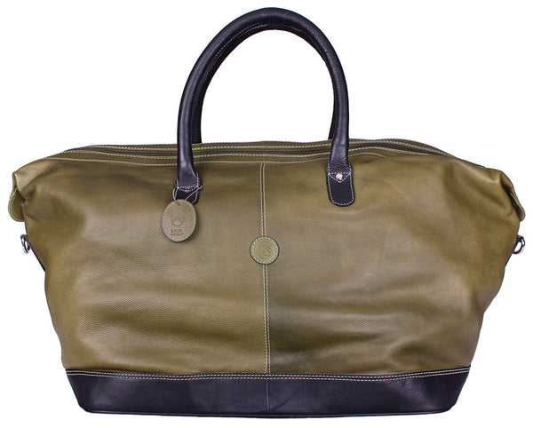 Hamptons Weekender Duffle in Green by Lilo Collections