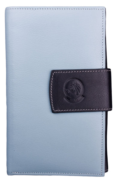 Lilo Checkbook Wallet in Baby Blue by Lilo Collections