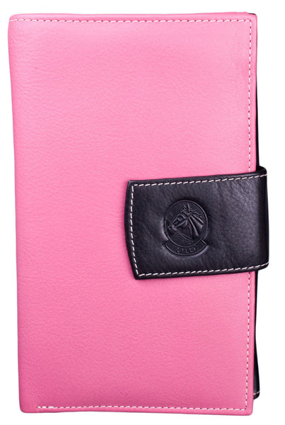 Lilo Checkbook Wallet in Bright Pink by Lilo Collections