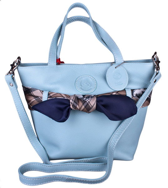 Savannah Scarf Handbag in Baby Blue by Lilo Collections