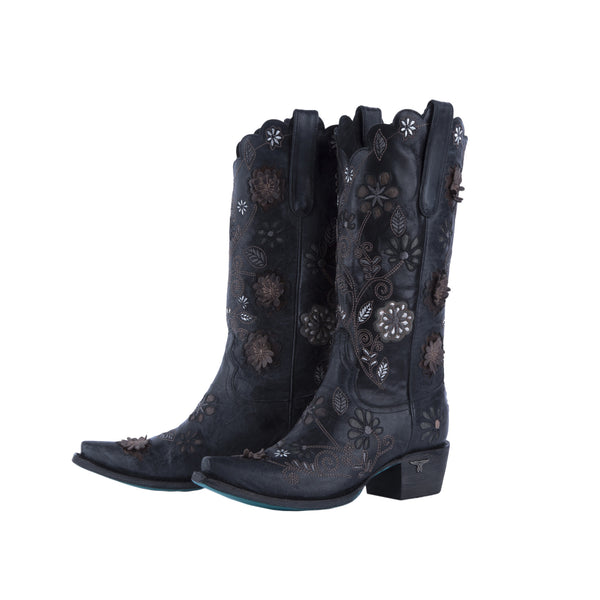Marigold Cowboy Boot in Black by Lane Boots