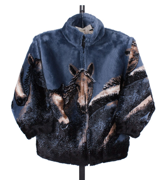 Blue Denim Horse Jacket by Mazmania