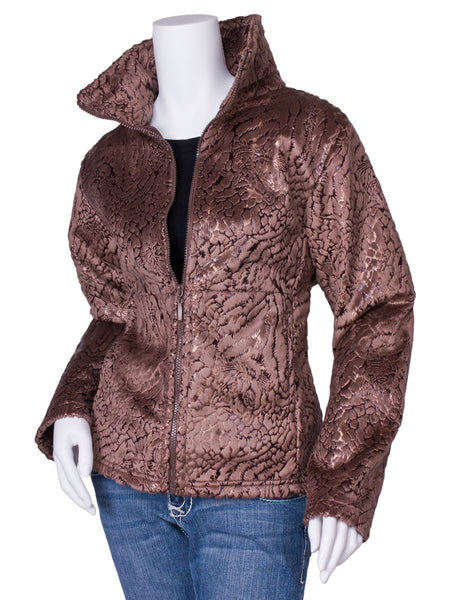 Roma Cinch Back Boa Jacket by Mazmania