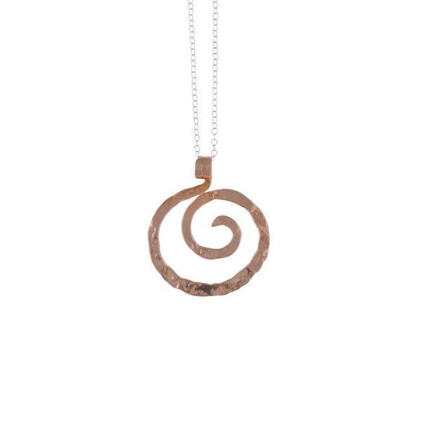 Spiral Pendant in Bronze by Nora Catherine