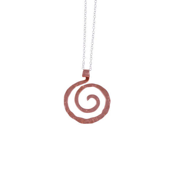 Spiral Pendant in Copper by Nora Catherine