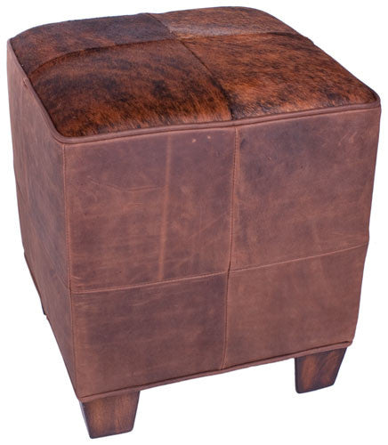 Virginia Brown Cube Ottoman by Carroll Companies