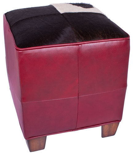 Marquis Red Cube Ottoman by Carroll Companies