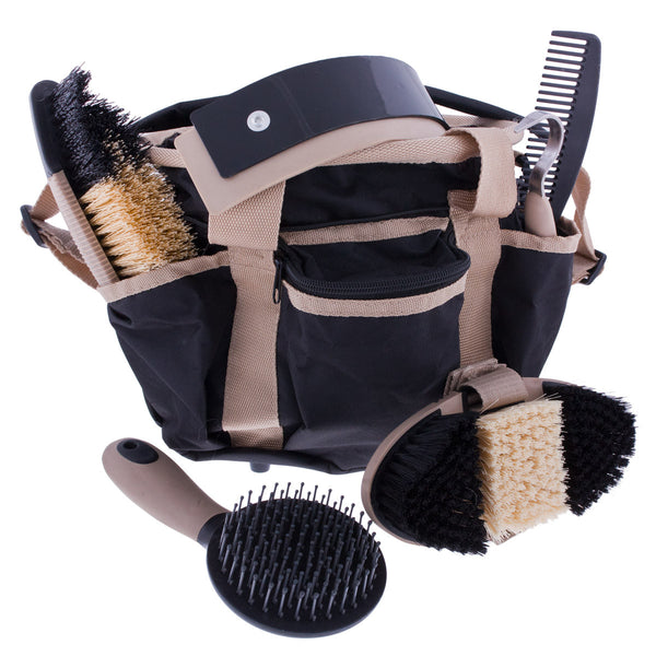 Six-Piece Grooming Kit in Black by Partrade