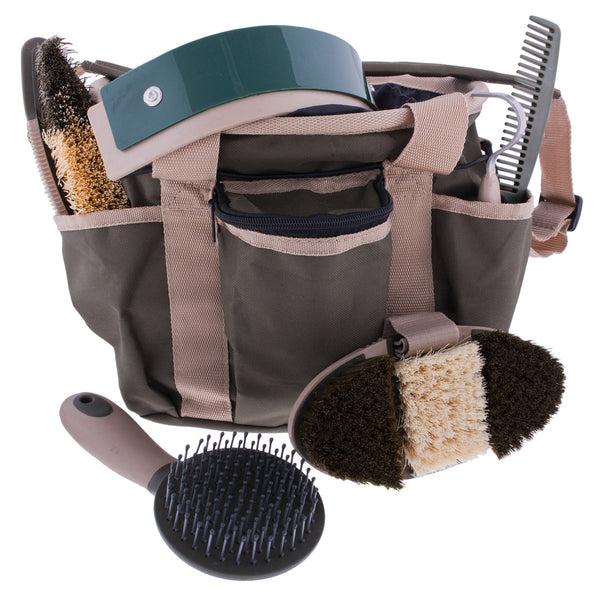 Six-Piece Grooming Kit in Olive by Partrade