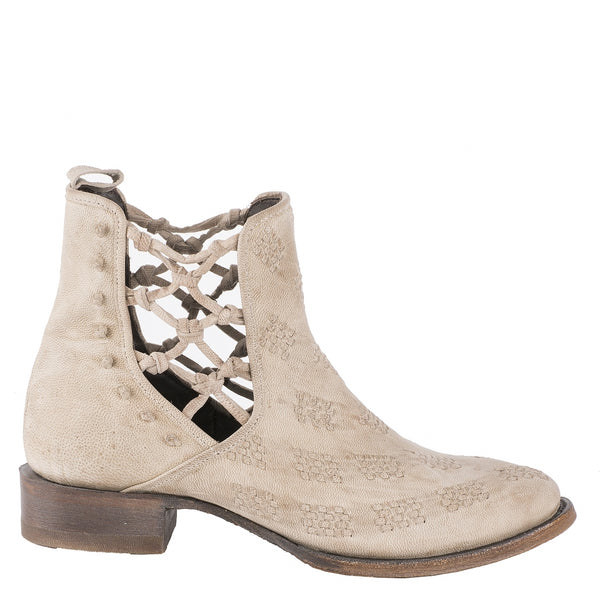 London Secrets Bootie in Ivory by Patina Vie