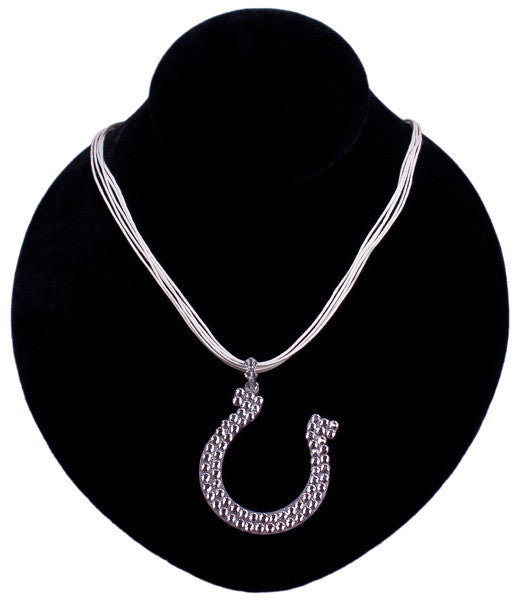 Crystal Horseshoe Necklace in Crystal by Relative Jewelry