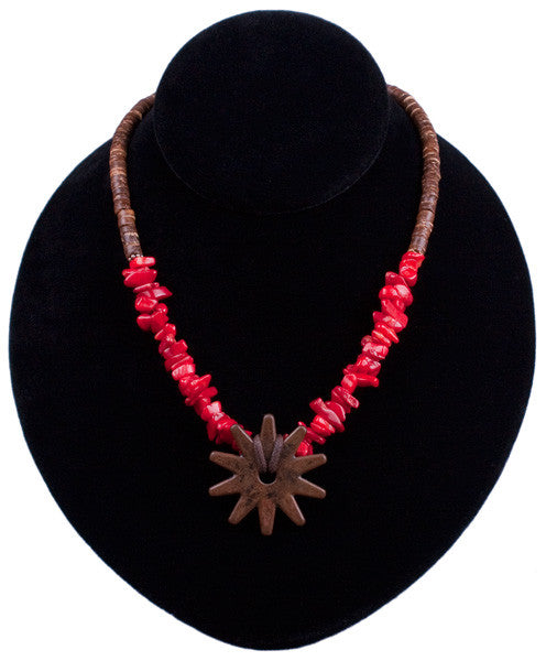 Coco & Rowel Necklace in Red Coral by Relative Jewelry