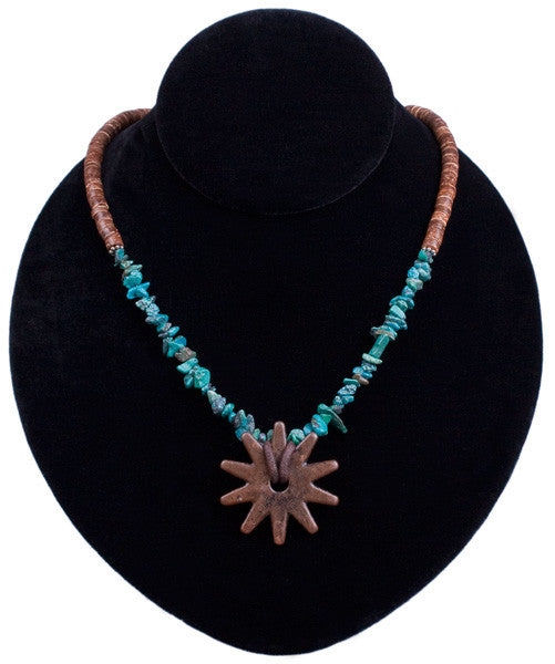 Coco & Rowel Necklace in Turquoise by Relative Jewelry