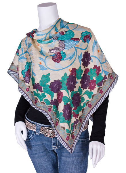 Buffalo Bill Floral Scarf by Rockmount Ranch Wear