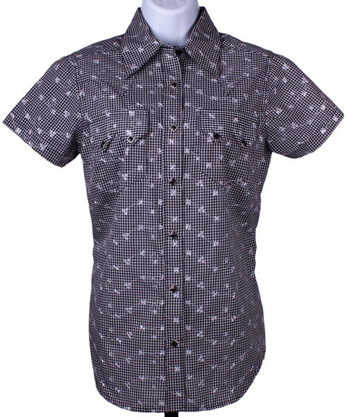 Gingham Eyelet Short Sleeve Shirt by Rockmount Ranch Wear