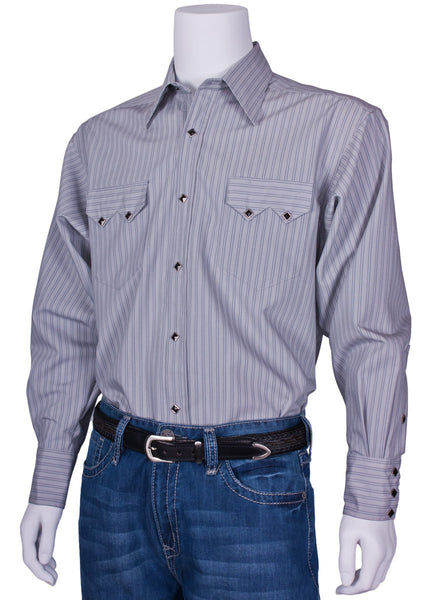Pinstriped Western Dress Shirt by Rockmount Ranch Wear