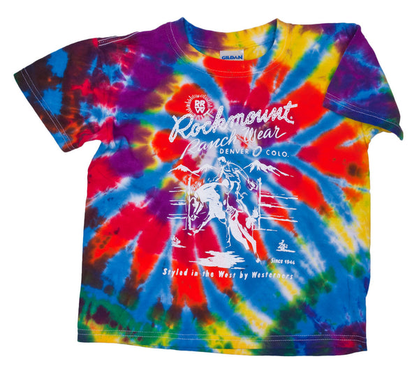 Kids' Tie Dye Bronc Tee by Rockmount Ranch Wear
