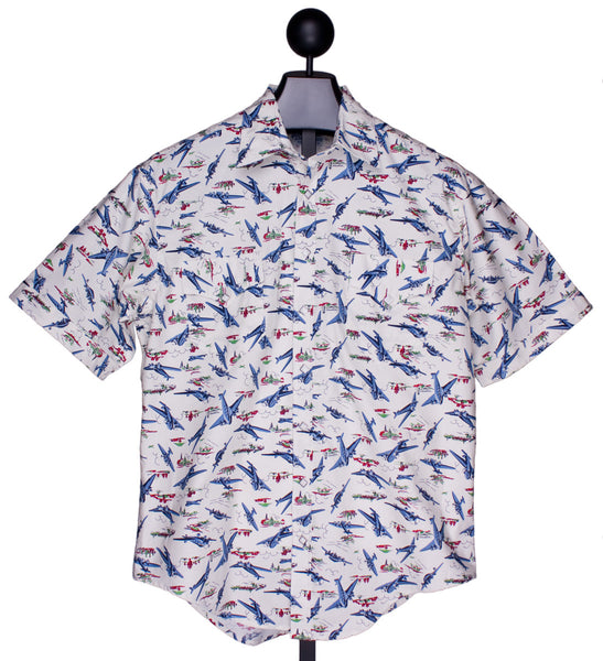Vintage Short Sleeve Airplane Shirt by Rockmount Ranch Wear