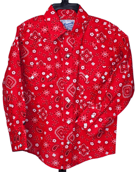 Kids' Red Bandana Western Shirt by Rockmount Ranch Wear