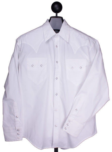 White Western Dress Shirt by Rockmount Ranch Wear