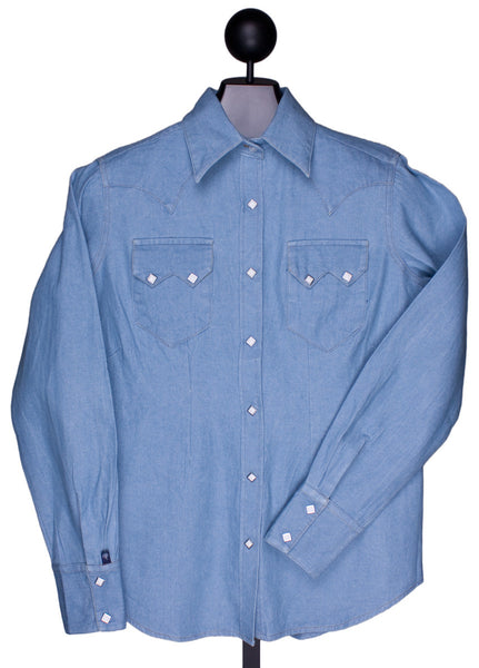 Stonewashed Denim Western Shirt for Women by Rockmount Ranch Wear