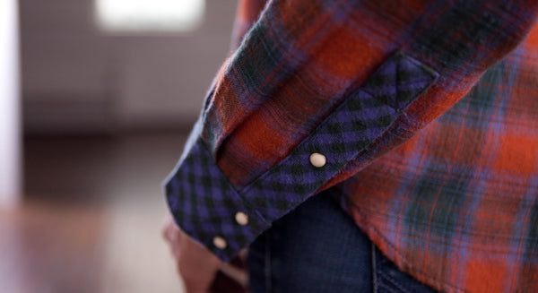 Classic Western Flannel Shirt by Ryan Michael