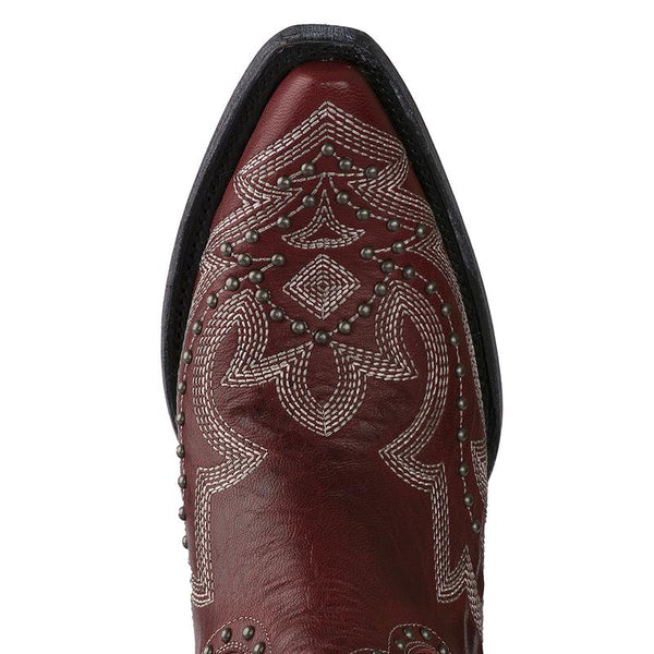 Saratoga Stud Cowboy Boot in Cherry by Lane Boots