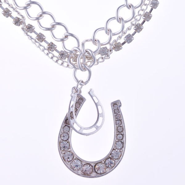 Crystal Horseshoe Boot Jewelry by Silver Strike