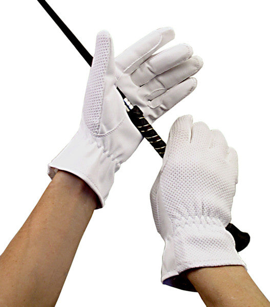 Men's Synthetic Gloves in White by Smith-Worthington