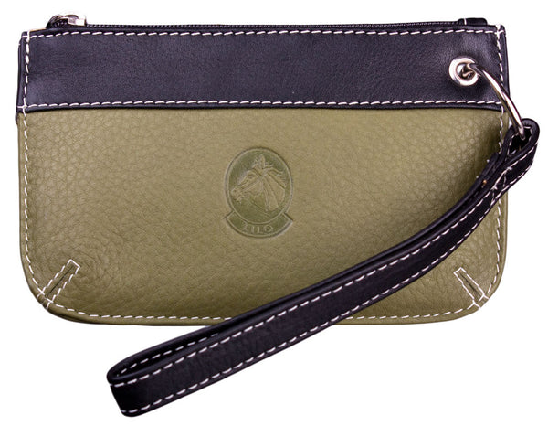 Lilo Leather Wristlet in Green by Lilo Collections