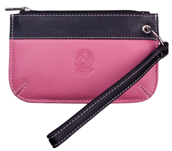 Lilo Leather Wristlet in Bright Pink by Lilo Collections