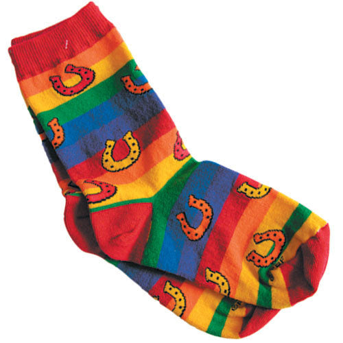 Youth Rainbow Horseshoe Socks by GT Reid