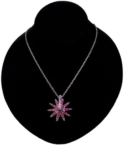 Crystal Spur Rowel Necklace in Pink by Wyo Horse