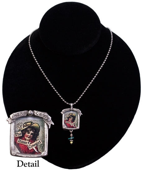 Our Lady of the Inner Cowgirl Necklace by Sweet Bird Studios