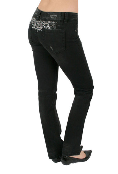 Black Tattoo Jeans by Zenim Denim