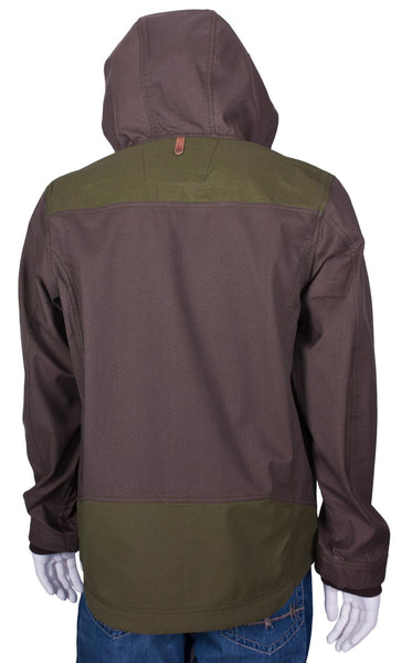 Backfire Jacket in Brown and Grass by Twist