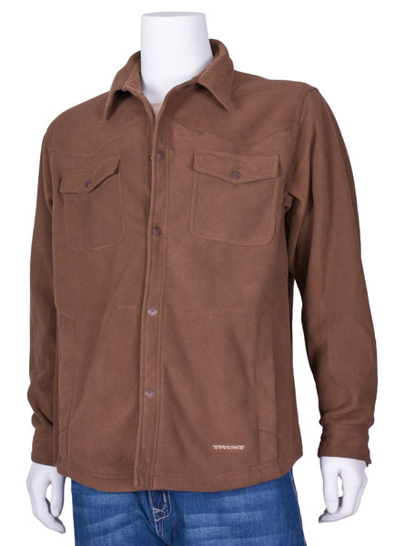 Baja Shirt Jacket in Brown and Whiskey by Twist