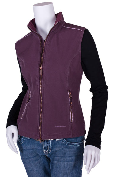 Ricochet Vest in Plum by Twist
