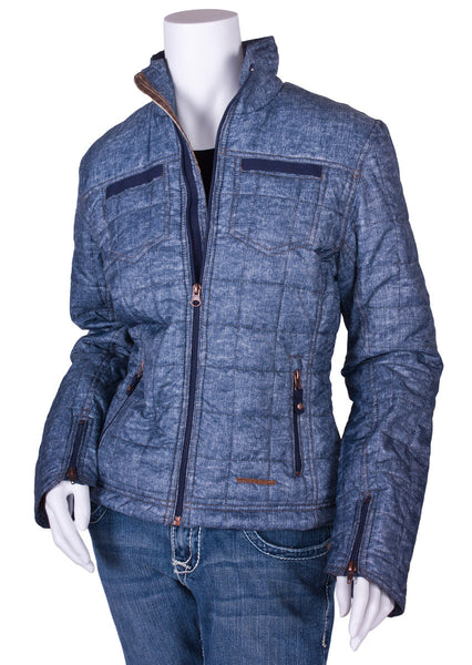 Rustic Jacket in Blue Denim by Twist