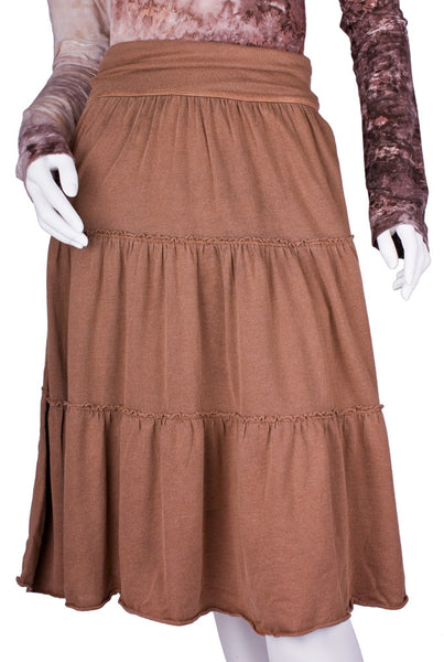 Badlands Tiered Skirt in Acorn by Tumbleweed Ranch