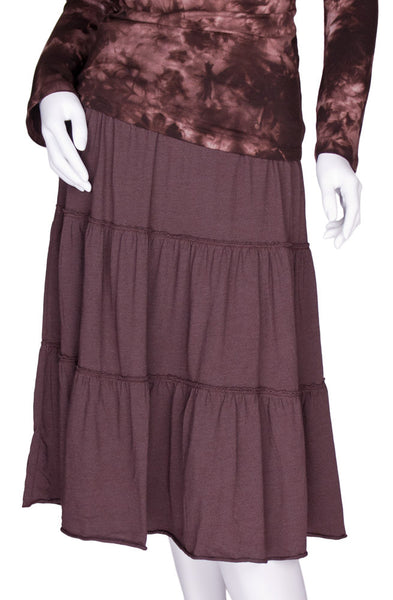 Badlands Tiered Skirt in Brown by Tumbleweed Ranch