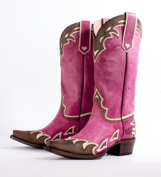 Back 40 Cowboy Boot in Pink by Junk Gypsy Co.