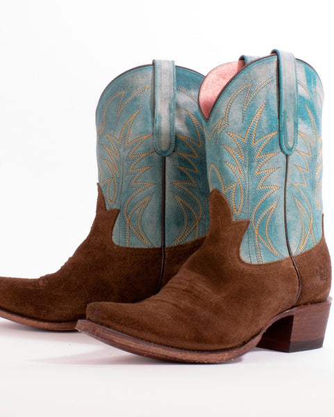 Dirt Road Dreamer Cowboy Boot in Turquoise by Junk Gypsy Co.